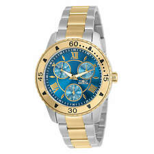 Invicta Women's Watch Angel Chronograph Blue Dial Two Tone Bracelet 30735
