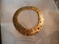 VTG 80s Haute Couture Cleopatra  Egyptian Revival Gold Tone Necklace/Choker