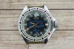 Vintage Men's watch Vostok Komandirskie 17 jewels mechanical Soviet USSR