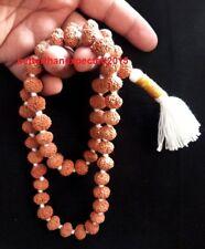 Rare 10 Mukhi Rudraksha /Ten Face Rudraksh Mala / Narayan Mala 54 Java Beads