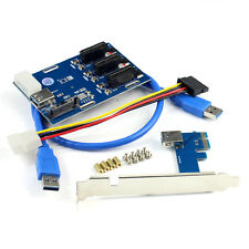 New PCIe 1 to 3 PCI Express 1X Slots Riser Card Mini ITX 3 PCI-e Slot Adapter