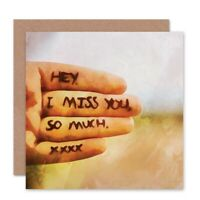 Friend Friendship Miss You Hand Kisses Blank Greeting Card With Envelope