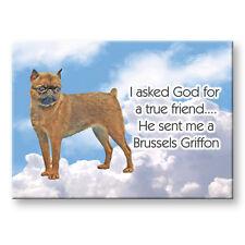 Brussels Griffon True Friend From God Fridge Magnet No 1