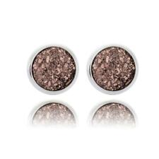 Boho Silver Gold False Druzy Ear Stud Natural Stone Quartz Earrings Size 12mm