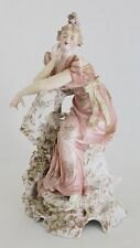 Early 19th C. French Empire Style Coquettish Lady Porcelain Figurine  Signed