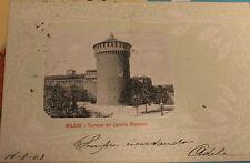 cartolina Milano Torrione del Castello Sforzesco viaggiata 1903   13/11/16