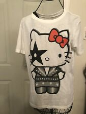 Hello Kitty KISS Rock & Roll Paul Stanley Shirt M HTF