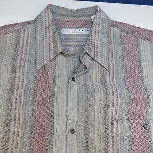EQUILIBRIO MADE IN ITALY BUTTON UP DRESS SHIRT Sz Mens L Colorful