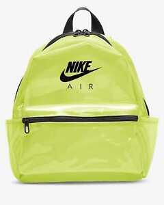 Womens Nike Air JDI Mini Transparent Plastic Backpack CW9258 702 Green/Black