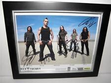 REV THEORY Autograph FRAMED PHOTO All Band Members 2009 RIKKI RICH DAVE MATT