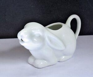 Wonderful Porcelain Rabbit Shaped Creamer Milk Jug. Animal Design Ceramics
