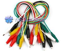 10 X Prueba Eléctrica Cable Alambre con Pinza Clip Cocodrilo Accesorio Práctico