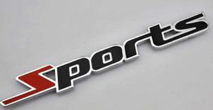 Sport Car Sticker Metallic Emblem Badge Sticker Universal 110x15mm