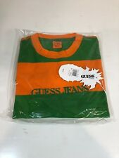 Guess Jeans Sean Wotherspoon Farmers Market Striped T-Shirt Green Orange M