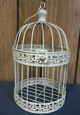 New listing Vintage Shabby Chippy White Metal Bird Cage