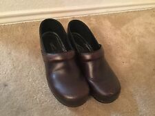 Women's Dansko Brown Leather Clogs Shoes 40(US 9)