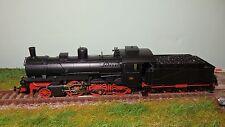 FLEISCHMANN 481307 Locomotiva a vapore 626 007 Nera telaio rosso vagone, FS