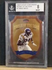 BGS 8 NM-Mt 1998 playoff contenders rookie of the year Randy Moss Beckett Graded
