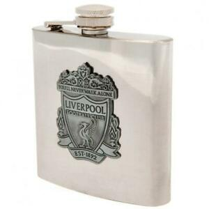 Liverpool FC Hip Flask (Stainless Steel / 6oz Capacity / Antique Club Badge)
