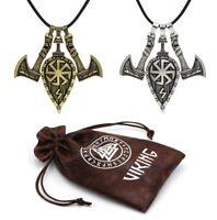 Viking Halskette Amulett Axt Schild Anhänger Kolovrat Sonnenrad Slawisch Celtic