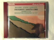 MEMBERS OF THE BERLIN PHILHARMONIC OCTET Brahms: string quintets cd COME NUOVO!