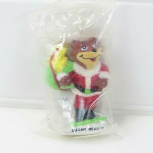 SUGAR BEAR - VINTAGE 1993 POST CEREAL PROMO CHRISTMAS ORMNAMENT FIGURE - SEALED