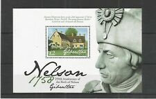 GIBRALTAR 2008 LORD NELSON MINISHEET SG,MS1274 U/MM N/H LOT 3864A