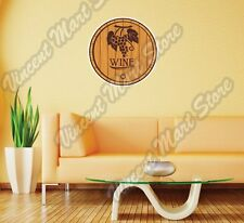 "Oak Wine Barrel Alcohol Drinking Gift Wall Sticker Room Interior Decor 22""X22"""