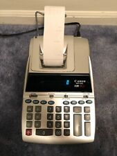 Canon Mp18D Ii Calculator Adding Machine Two Color 12 Digit Both Colors Tested
