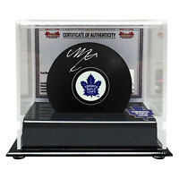 Mitch Marner Autographed Toronto Maple Leafs Puck in Acrylic Display Case
