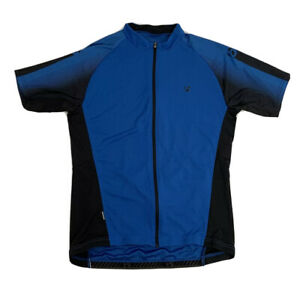 Men's Trek Bontrager Race Large Cycling Jersey Blue Full Zip