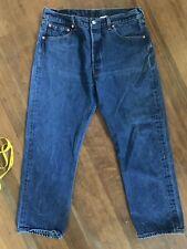 Levi's 501xx Vtg Dark Indigo Blue Jeans W36 L31 (28) Whisker Faded