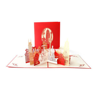 XI'an Tower Terracotta Warriors Pop Up Greeting 3D Card Gift Birthday Graduation