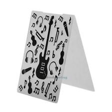 Plastic Embossing Folder Template DIY Scrapbook Paper Card Craft Guitar Series
