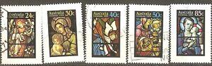 Australia: full set of 5 used stamps, Christmas, 1984, Mi#895-899