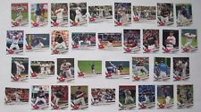 Cleveland Indians 2017 Topps Series 1, 2, & Update Base Team Set *35 cards*