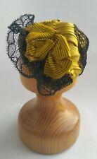 Beautiful silk Fashion doll bonnet, German/French antique doll