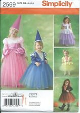 S 2569 sewing pattern Fairy PRINCESS MAIDEN Medieval COSTUME sew sizes 4-8 UNCUT