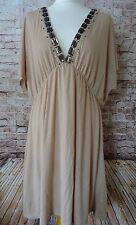 Accessorize Womens Brown/Cap Sleeve/Summer/Holiday/Tunic/Dress Size UK 16/EUR 44