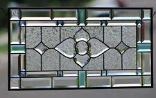 "*Beveled Stained Glass Window, Handmade in the USA_28"" x 14"""