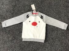 MOTHERCARE GIRLS REINDEER CHRISTMAS TOP AGE 2-3 YEARS UP TO 98 CM NEW WITH TAGS