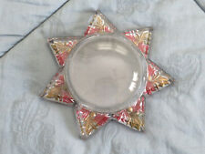 Vintage 7 star glass magnifying Paper Weight approx 5 1/2 in.