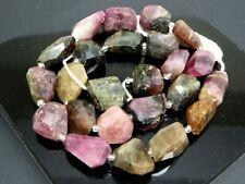 "Natural Multicolor Tourmaline Gemstone Faceted Irregular Nuggets Beads Std 15.5"""