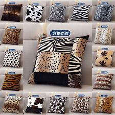 Trendy Animal Stripe Leopard Zebra Tiger Grain Velvet Cushion Cover Pillow Case