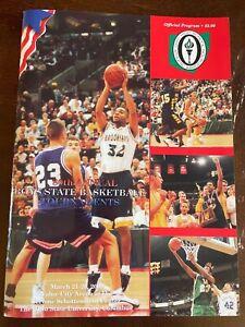 LeBron James 2002 Ohio High School Basketball Tournament Program Senior Year