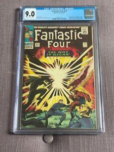 Fantastic Four #53 CGC 9.0 2nd & Origin Black Panther, 1st KLAW LEE KIRBY 1966