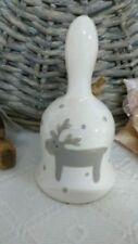 Adornos de campana de porcelana para árbol de Navidad