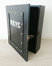 Key Storage Rack Vintage Style Cabinet Hooks - Black - Kitchen Utility - NEW