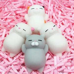 Anti Stress Ball Squishy Toy Cute Cat Squeeze Key Ring Fidget Car Soft Rabbit