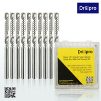 Drillpro 10pc Carbure CNC Flûte Fraise Foret Perceuse End Mill Cutter 3.175x25mm